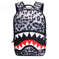 Fashion Shark Pattern Teenage Game Backpack For Boys Girls School Bags Personality Printing Men Backpack Shark bags