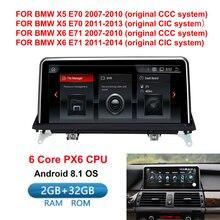 """10.25 """"IPS Dello Schermo di Android 8.1 del Sistema 2 + 32G Auto Multimeida Stereo Per BMW X5 E70 X6 E71 2007-2013 GPS Navi Bluetooth WIFI"""