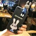 Телефон Сумки Case для iPhone 6 6 S 7 Плюс Мультфильм Zootopia Джуди Мобильных Аксессуаров Случаях ТПУ Силиконовый Чехол Для iPhone6 iPhone7