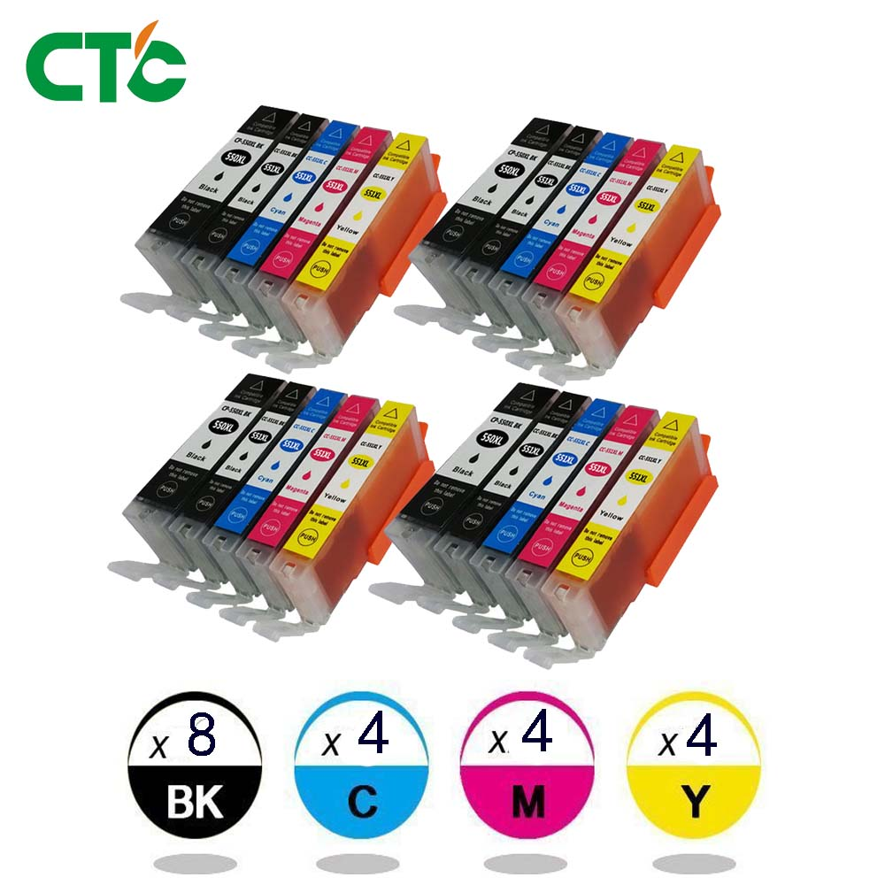 20x PGI 550 CLI551 compatible ink cartridge for PIXMA IP7250 MG5450 MX925 MG5550 MG6450 MG5650 MG6650 IX6850 MX725 MX925