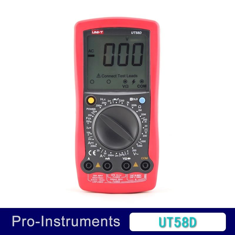 UNI-T UT58D 1999 Counts LCD Large Screen Digital Multimeter AC/DC Voltage Current,Resistance,Capacitance,Inductance Tester t smd common mode inductance filter choke ac90707012pltl current 5a 9x7m