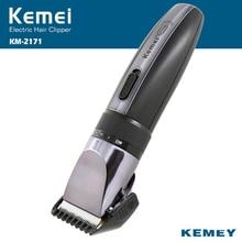 Kemei Электрический Машинка Для Стрижки Волос Аккумуляторная Триммер Волос Бритва Аккумуляторная 0.8-2.0 мм Регулируемый Низкий Уровень Шума Для Взрослых/ребенок