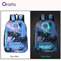 2016 New Fashion Hot Sale Men's Backpack Galaxy Luminous Printing Animation Backpack School Bags for Teenagers Mochila
