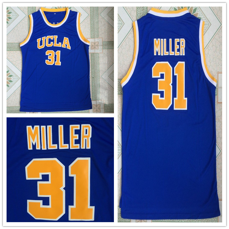 2017 Men AKGGDD Cheap Throwback Basketball Jersey Reggie Miller Jersey  31  UCLA All Atitched College JERSEYS BLUE Retro Shirts c5cf3afd3687