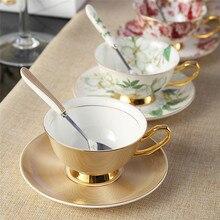 200 ML einzigen Mode keramische kaffeetasse gesetzt qualität bone china tasse bone china kaffeetasse scheibe gürtel löffel