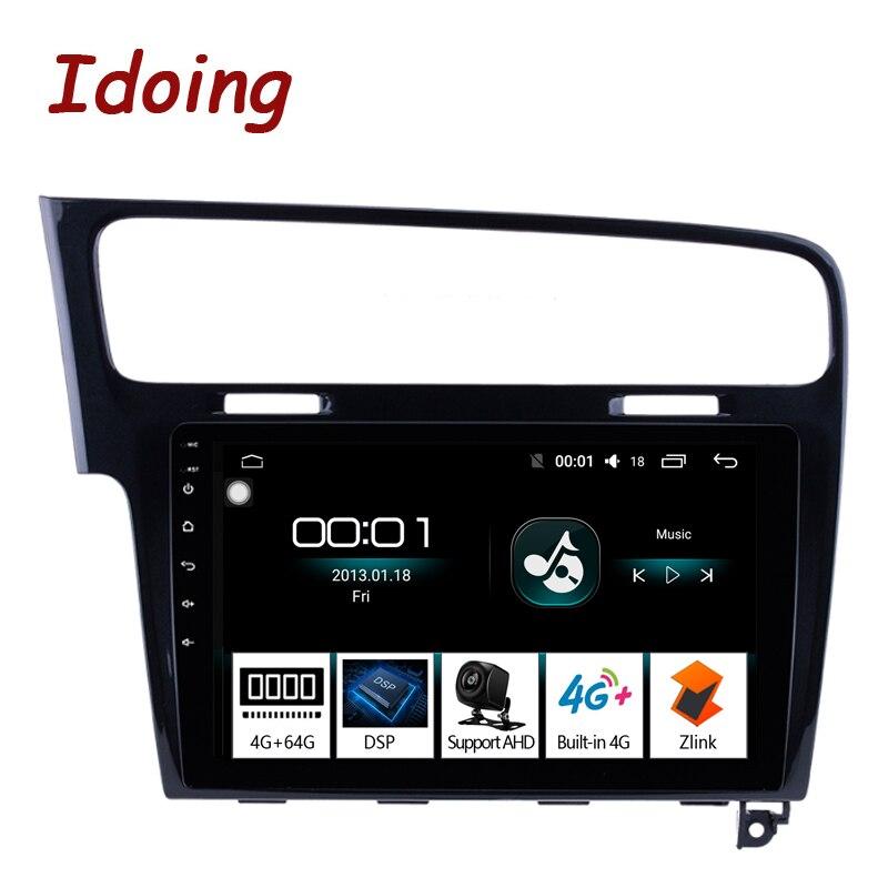 Lecteur multimédia de GPS d'autoradio d'idone 1Din 10.2 pouces Android 8.1 pour VOLKSWAGEN Golf 7 2013 (piano noir) Octa Core 4 RAM 64G ROM
