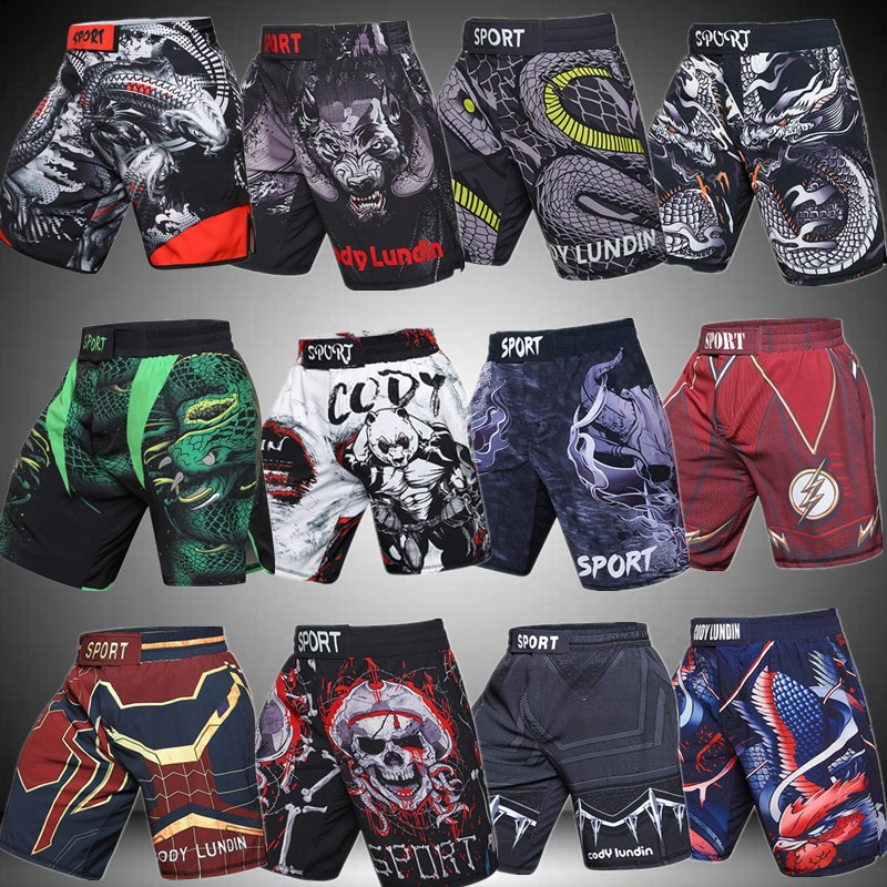 MMA New Green Python Viper UFC Synthetic Boxing Running Pants Sports Fitness Shorts.(China)
