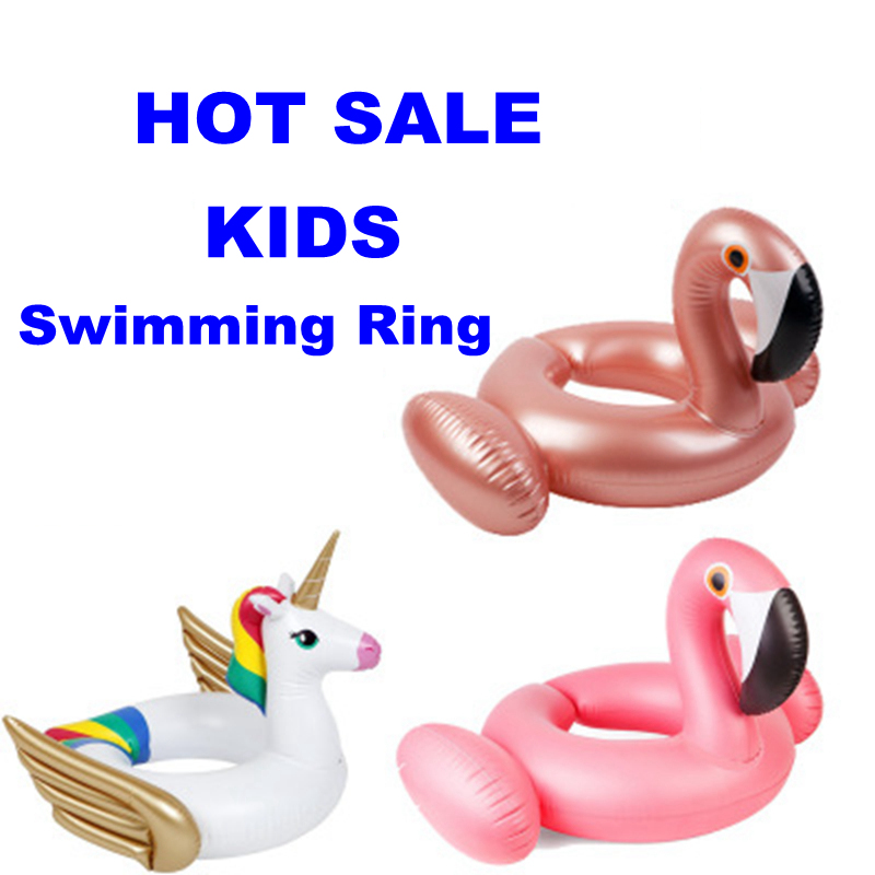 Kids Inflatable Flamingo Baby Float Swimming Ring Unicorn Baby Float Inflatable Ring Water Pool Toys Swimming Pool Accessories
