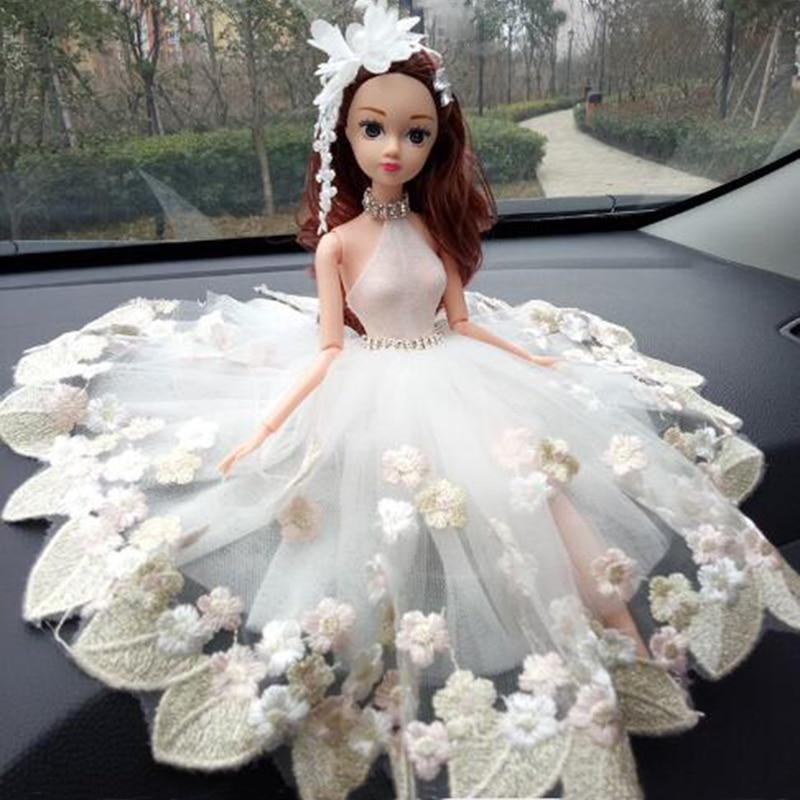 CXZYKING Beautiful Wedding Barbie Doll+ Wedding Dress Fashion Car Decorate Barbie Toys For Children Kids Girls Play Gifts