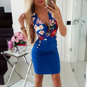 Party Dress Frauen Sommer Boho Floral Short Abend Cocktail Party Beach Dress Sommerkleid Dresses Woman Party Night Sexy Dress
