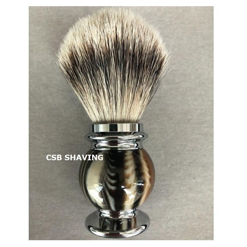 CSB High Quality Silvertip Badger Hair Knot 22mm Shaving Brush Resin Handle Mustache Beard Shave Wet Tool Barber Shop Salon