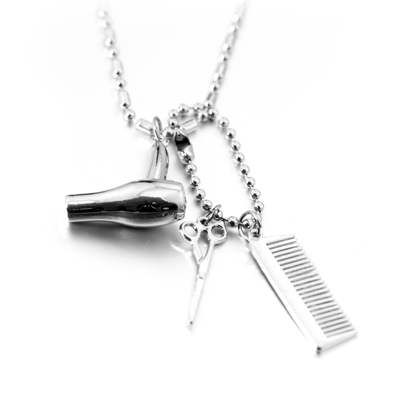 Fashion Combs Scissors Necklaces Gold Color Scissors jewelry with Rhinestone  hair stylist Hairdresser Gift Summer Style Necklace-in Pendant Necklaces  from ... 6703899870b2