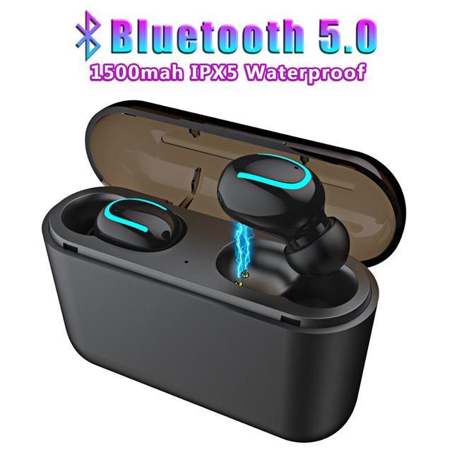 Sport Bluetooth 5.0 słuchawki bezprzewodowe HBQ akumulator zestaw głośnomówiący minisłuchawki TWS do telefonu słuchawki do gier