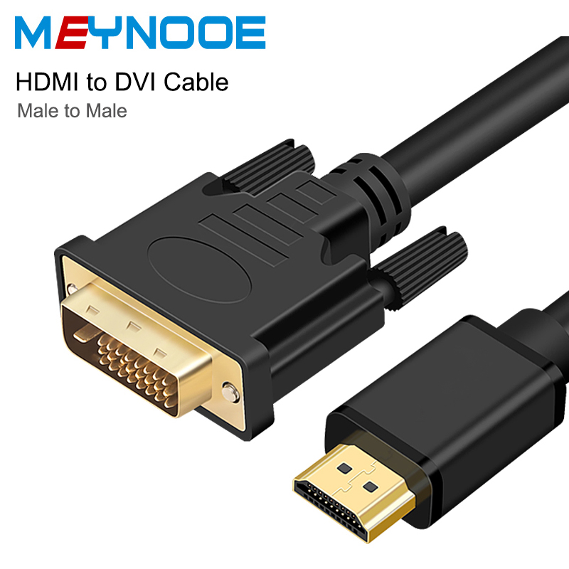 HDMI to DVI 24+1 Pin Adapter HDMI DVI to HDMI Cable 3D 1080P Digital Audio Converter HDMI 4K Splitter for LCD DVD HDTV Projector