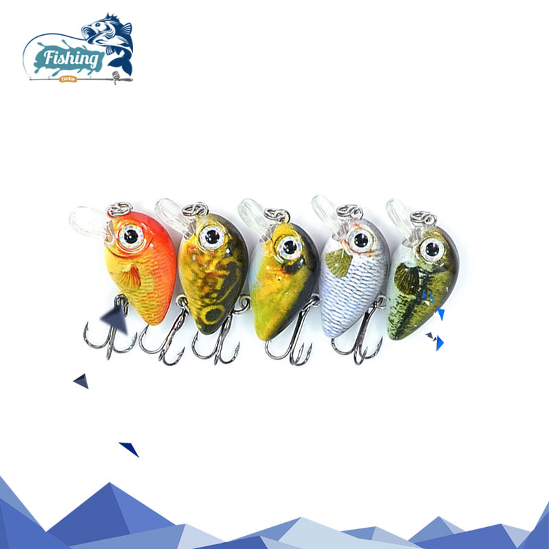 5PCS/set Crankbait 1.8g 3cm Topwater 0.1-0.5m Wobbler Mini Crankbait hard lure Fly Fishing Lure fishing Wobbler with Plastic Box 5pcs new style soft toad frogs bass fishing lure soft plastic hollow fishing lure crankbait hooks 5 5cm 8g with box wholesale