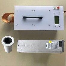 Nagrzewnica indukcyjna 2500KW wysokiej częstotliwości maszyna nagrzewania indukcyjnego metalowy piec do wytapiania + tygiel + zasilacz