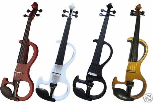 ONE 4 STRING  4/4 Electric Violin Patent Silent Pickup #2-08 new 4 string 4 4 electric acoustic violin patent silent fine sound 1