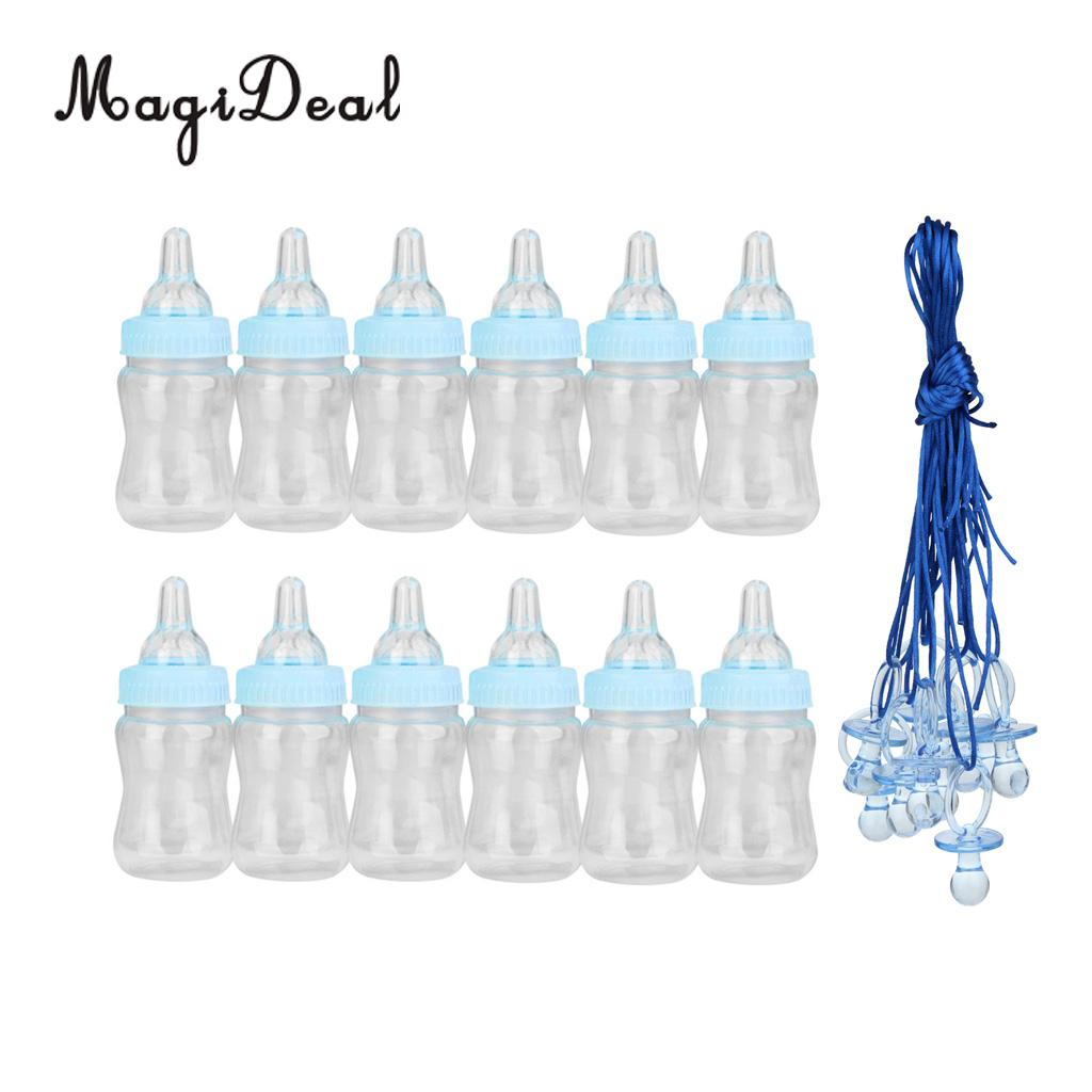 22pcs/Set Large Pacifier Necklace Feeding Bottle Game Gifts Baby Shower Blue