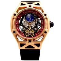 Ouyļmen relógio mecânico tourbillon esqueleto automático relógio masculino fase da lua mecânica auto vento relógios relogio masculino|Relógios mecânicos|   -