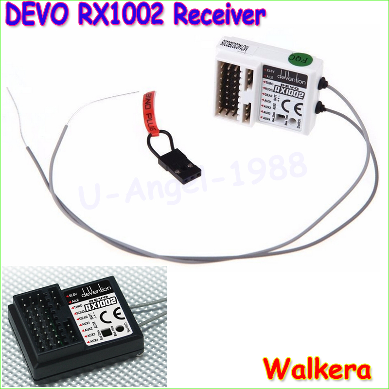 1pcs New 100% Original Professional DEVO RX1002 Walkera Devention 10CH 2.4GHz Receiver for Walkera Transmitter White Wholesale original walkera devo f12e fpv 12ch rc transimitter 5 8g 32ch telemetry with lcd screen for walkera tali h500 muticopter drone