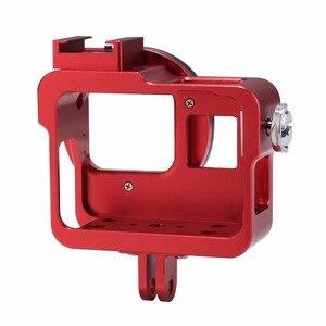 Image 2 - PULUZ שיכון מעטפת עבור GoPro גיבור 7 שחור 6/5 קשה מגן כלוב + 52mm UV עדשת 8*6*4.6cm דרכי פרו Hero5 2018