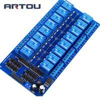 16 Canal 24 V fuente de Alimentación de Placa del Módulo de Relé con Optoacoplador ARM DSP