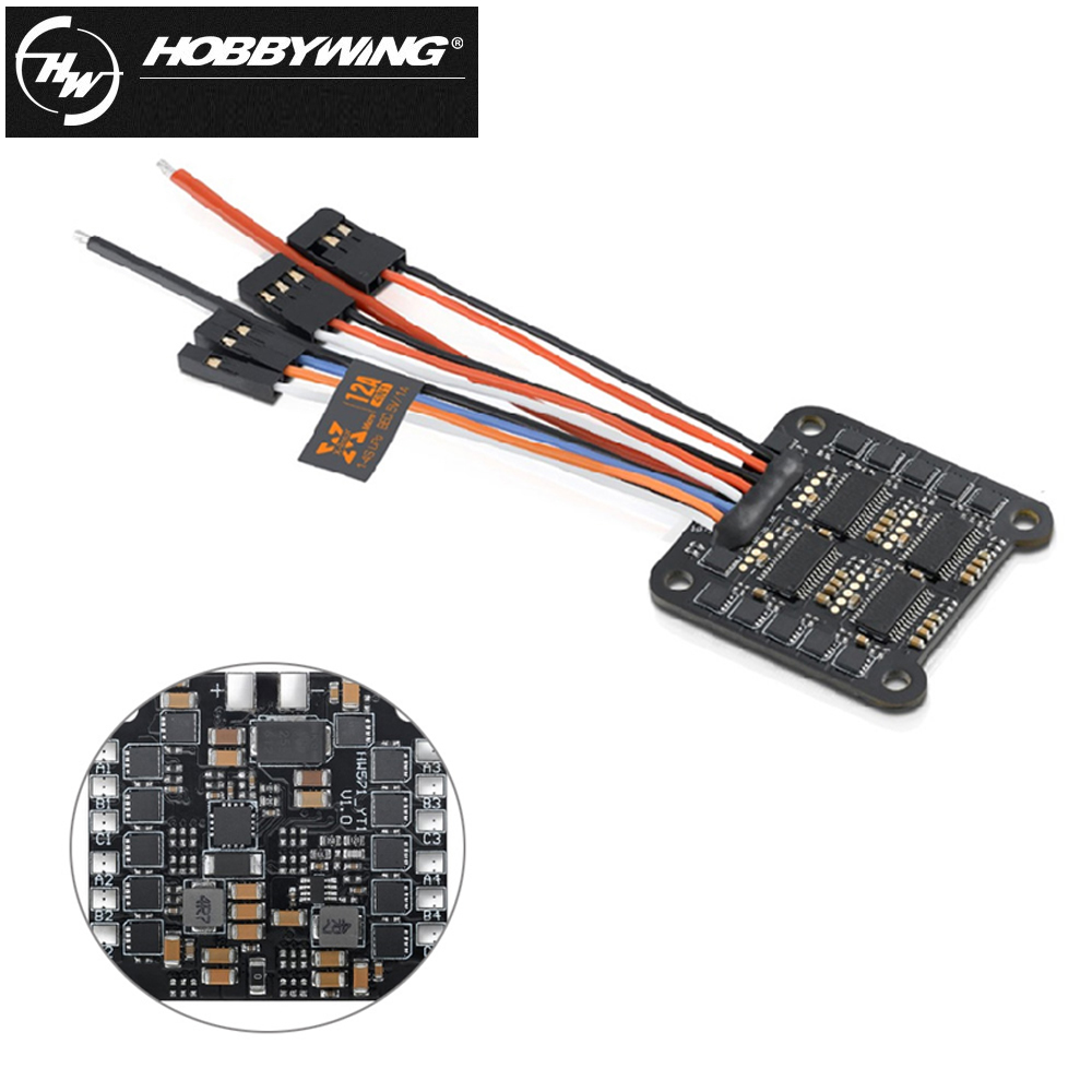 1pcs Hobbywing Xrotor 12A 4IN1 1-4S Micro Brushless ESC 5v 1A Speed Controller Support oneshot125 For RC drone xrotor micro blheli 30a 2 4s esc electronic speed controller for hobbywing original rc helicopter accessories