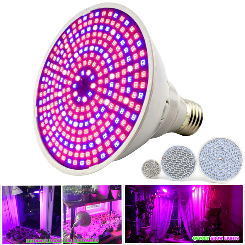 200 290 Full Spectrum Led Plant Grow Light Bulbs E27 Lamp For Hydroponics Room Seeds Flower Greenhouse Vegetable Growing Indoor