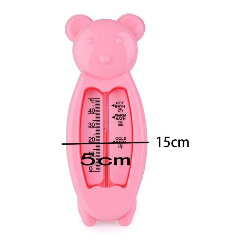 2016 Neue Ankunft Schwimmdock Reizenden Bären Kunststoff Float Toy Kinderbadewanne Wassersensor Thermometer Rosa Farbe Tropf-Trocken