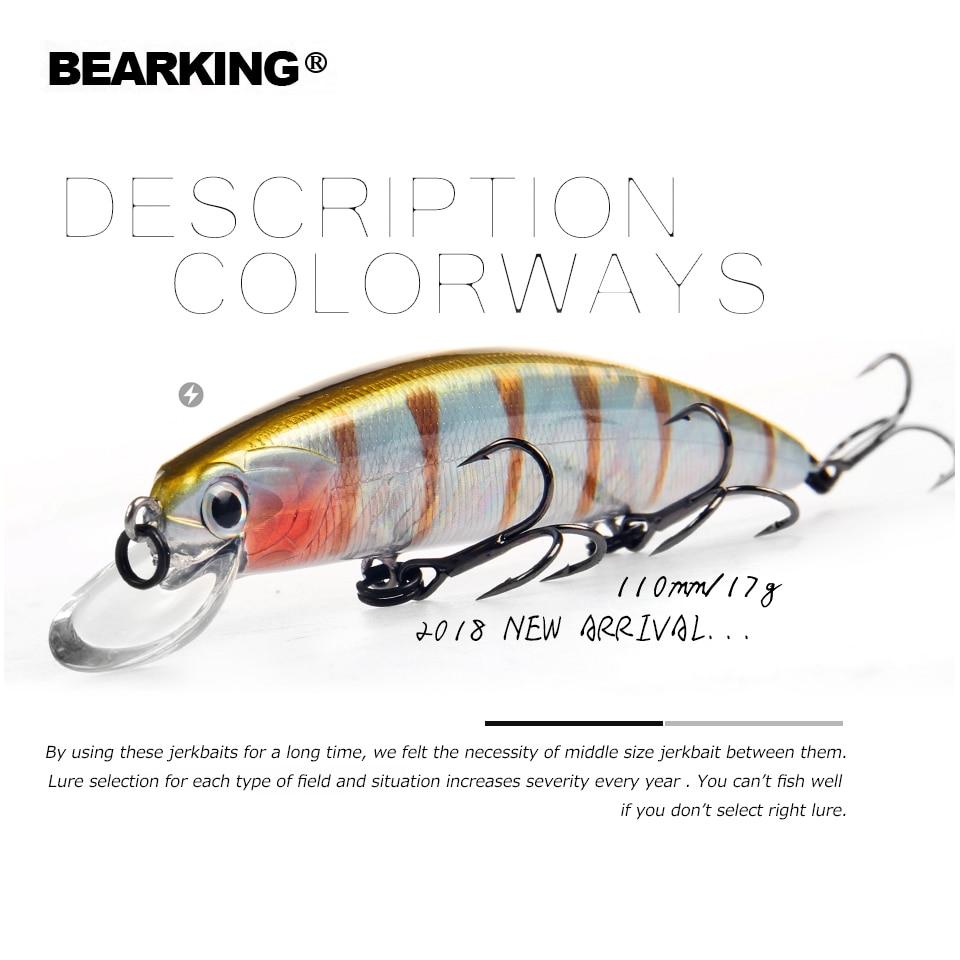 2018 Bearking Brand M109 Fishing Lures Minnow 11cm 17g quality Baits Deep Diving 1 5M Wobblers