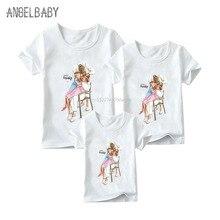 Одинаковые комплекты для семьи забавные футболки с принтом для мамы, дочки, папы и сына для мальчиков и девочек суперсемейные футболки для детей, женщин и мужчин