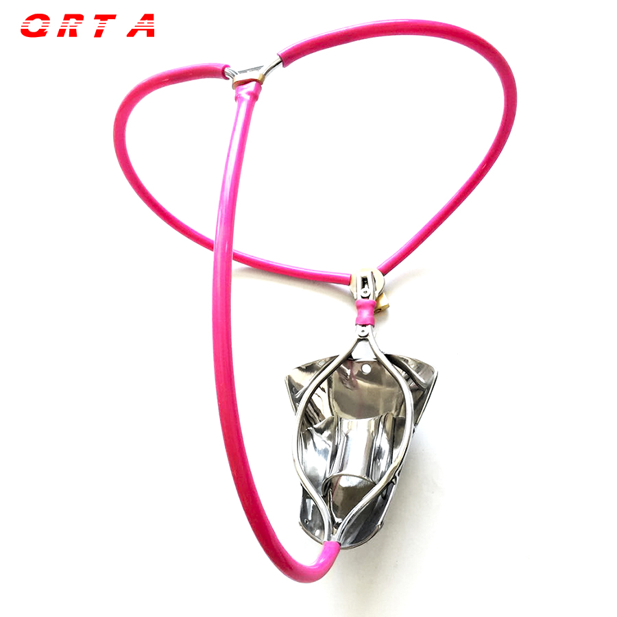 QRTA Summer Edition male chastity belt cock cage sex toys for men bondage stainless steel mens chastity device penis cage panty