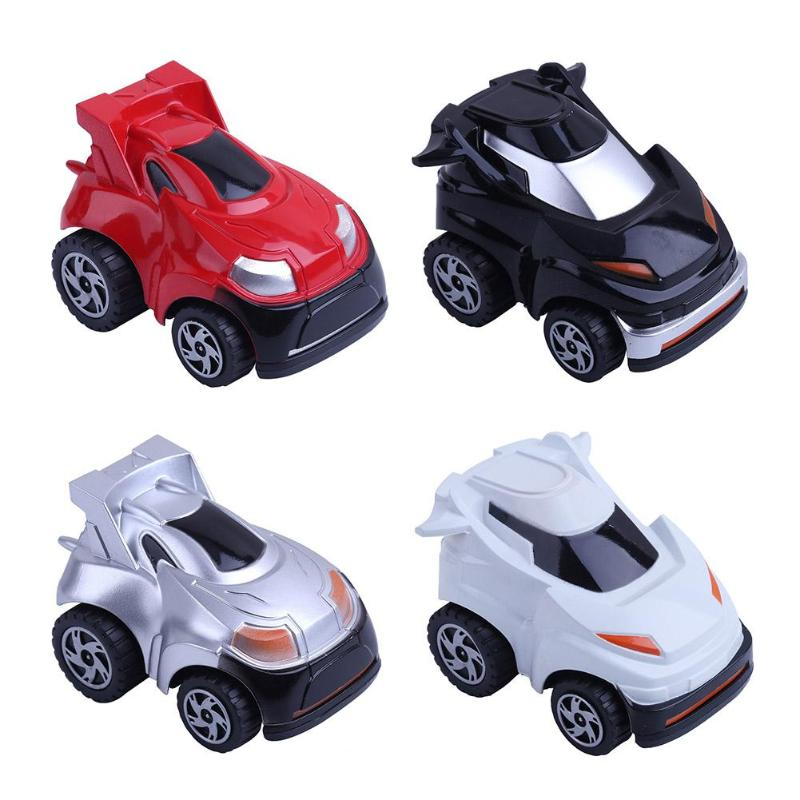 Kids Mini Car Toy 360 Rotation Pull Back Car Model Child Educational Key Promote Parent-child Toy Car Gift For Children