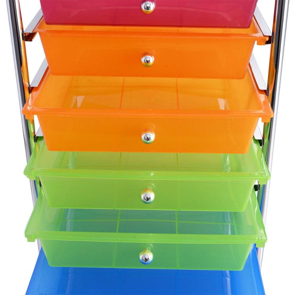 Goplus 10 Drawer Rolling Storage Cart Scrapbook Paper Office School  Organizer Rainbow Portable Kitchen Storage Drawers HW52045 In Storage  Shelves U0026 Racks ...