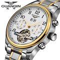 2015 Часы Мужчин Роскошный Лучший Бренд GUANQIN Механические Часы Fashion бизнес Сапфир спорт повседневная Наручные Часы relogio masculino