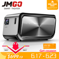 JMGO J6S, Full HD проектор для android устройств, поставляется с wifi/Bluetooth, 1920x1080 p, 1100 ANSI люмен. Smart Beamer, поддержка 4 K, 3D