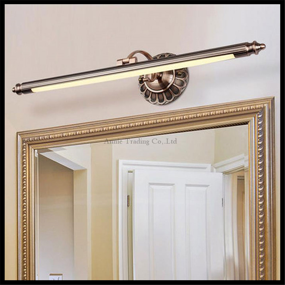 Moderne l50cm 70 cm 90 cm rot bronze führte spiegel leuchtet vintage wandleuchte badezimmer langen wandleuchten