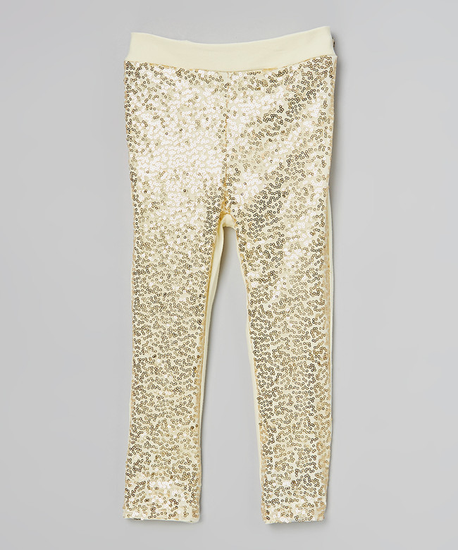 Posh Baby Girl Gold Sequin Pants Gold Sparkle Pants