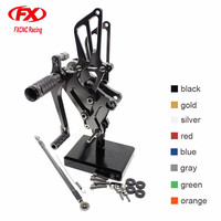 FXCNC Aluminum Adjustable Motorcycle Rearsets Rear Set Foot Pegs Pedal Footrest For HONDA VFR400 NC30 RVF400 NC35 RVF VFR 400