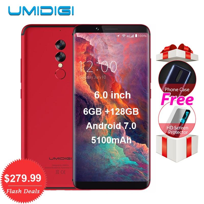 Umidigi S2 Pro P25 6 GB RAM 128 GB ROM 5100 mAh Android 7,0 handy Octa Core 6,0 ''Full Screen 4G LTE Smartphone