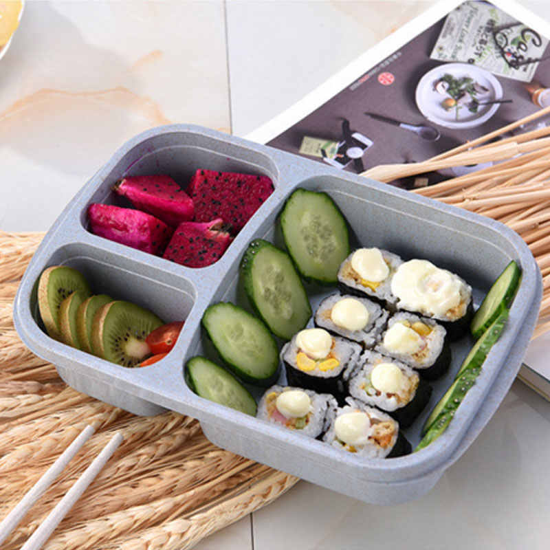 Lunch Box Bento Portable Children Kids School Camping Pink Fruit Food Container Kitchen Storage Lunchbox Dinnerware