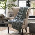 2016 Sólidos New Tempo-limitado Swaddle Cobertores Do Bebê Recém-nascido Handmade Malha Sofá Lance de Tricô de Algodão Cobertor 120*180 cm