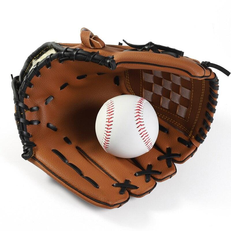Sporthandschuhe Baseball Handschuhe Neue Tragbare Dark Brown Durable Männer Softball Baseball Handschuh Sports Spieler Preferred 12,5/11,5/10,5 Zoll