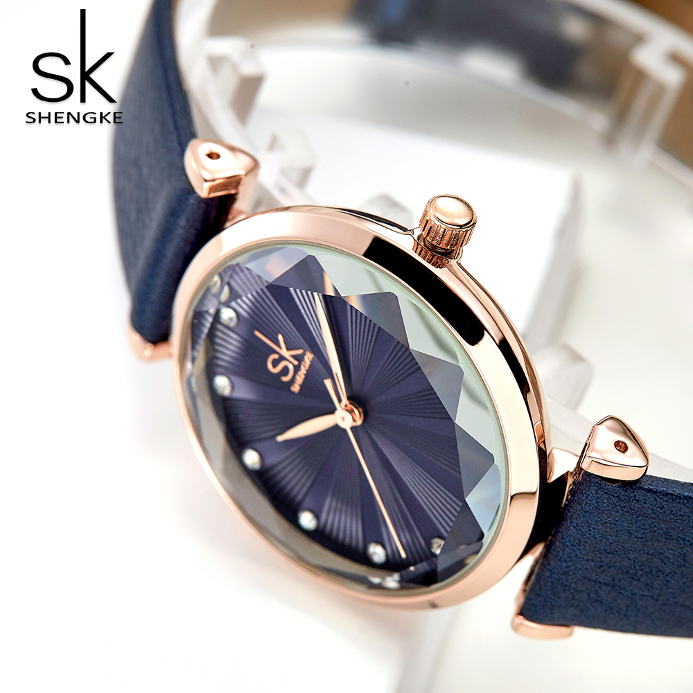 SK New Women's Watch 2019 Top Brand Luxury Fashion Leather Prism Ladies Wrist Watch For Women Female Clock Gift Relogio Feminino