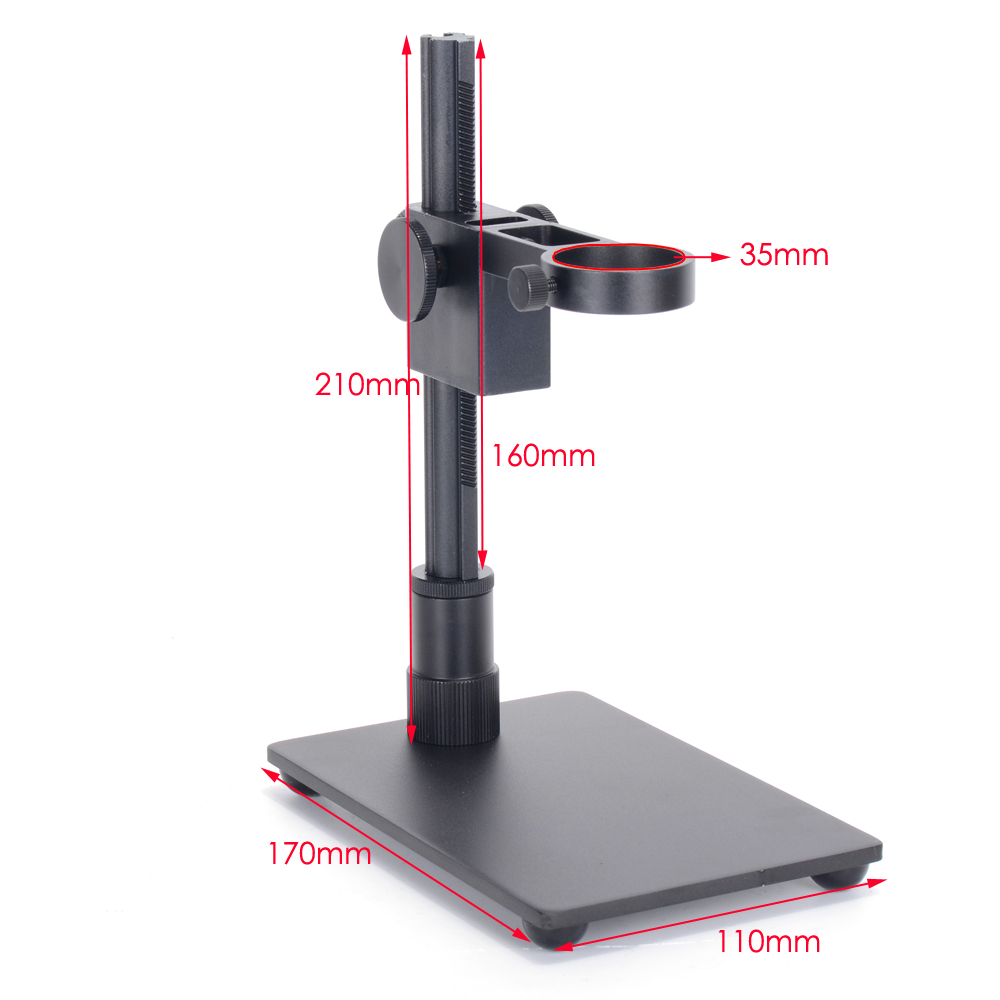 Universal Adjustable Base Stand Holder Support Bracket Max 1.4Diameter USB Digital Microscope Endoscope Magnifier camera for most models aluminum alloy stand bracket holder lifting support for digital microscope suitable usb microscopes suitable