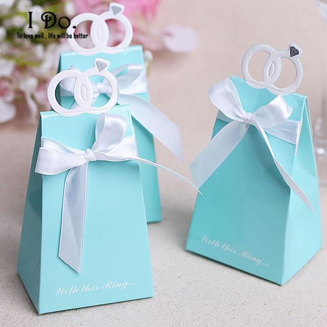 Free Shipping 10pcs Diamond/Love Bird Wedding Favor Boxes Wedding ...