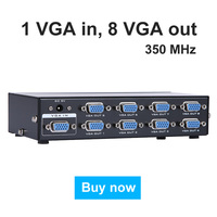 MT VIKI 8 Port VGA Video Splitter 1 Input 8 Output 1 PC Computer Host Display on 8 Monitors Synchronously MT 3508
