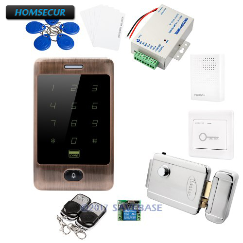 HOMSECUR RFID Waterproof Access Control DIY Set With Easy Operation + Electric Lock With Keys