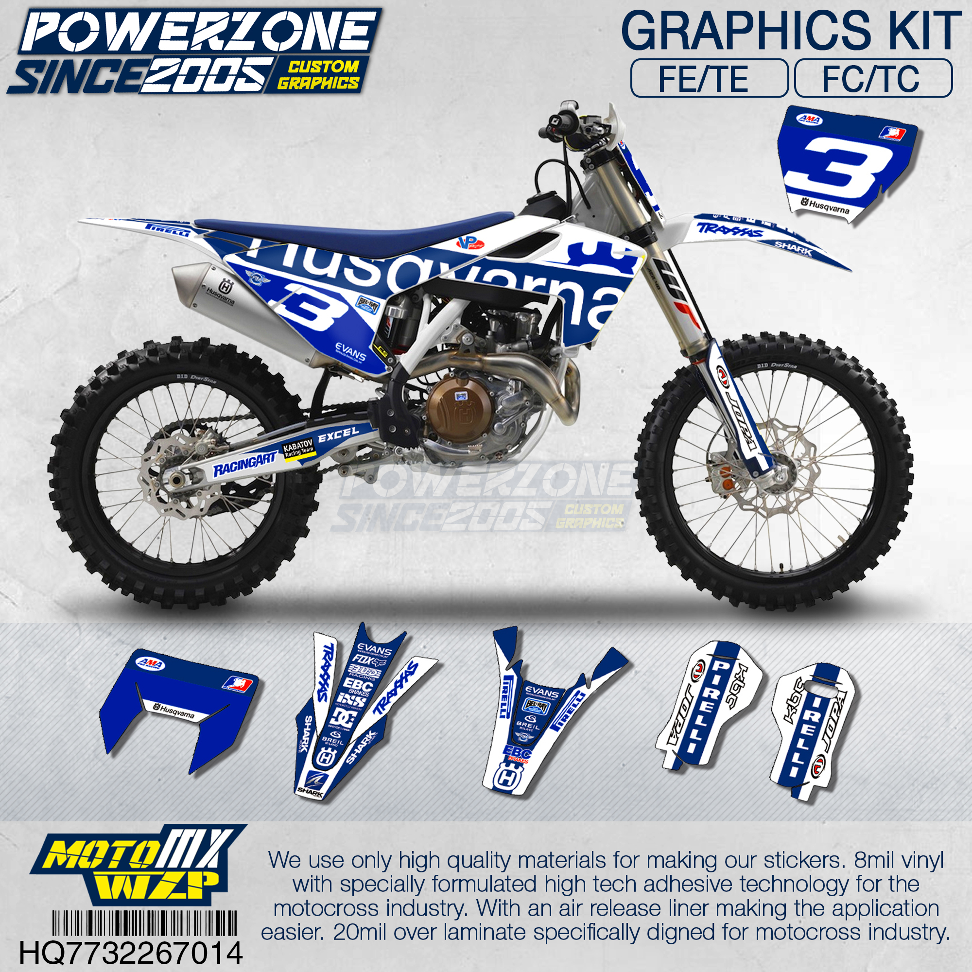 Customized Team Graphics Backgrounds Decals Custom Classic Stickers Kit For Husqvarna  2018 19-14 FE TE FC TC 250 350 500 714
