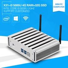 Новый Мини-ПК Core i3 5005U 4 ГБ Оперативная память 32 г SSD Dual Core офисные ПК тонкого клиента HDMI VGA Беспроводной Wi-Fi Окна 7/8/10 поддерживается